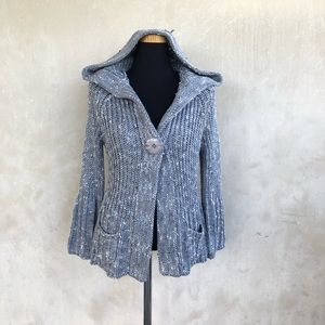 [BCBGMaxAzria] cable knit hooded sweater cardigan